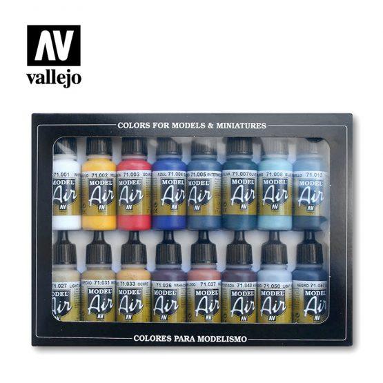 set pinturas vallejo model air
