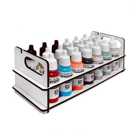 Paint Stand portátil para Pinturas Vallejo 17 ml