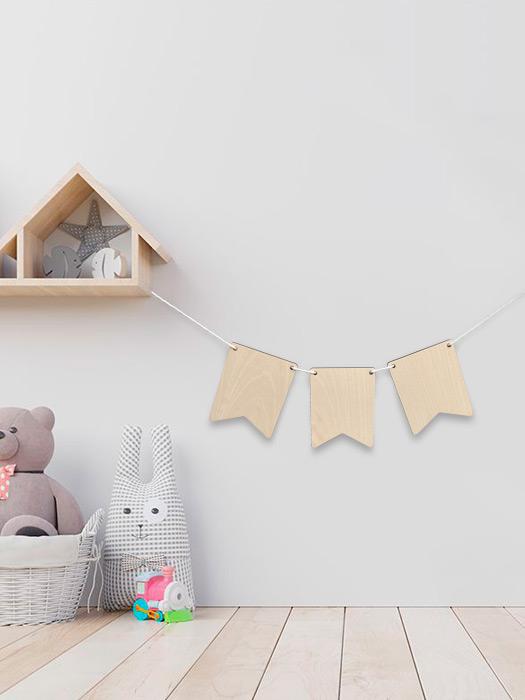banderines madera de haya