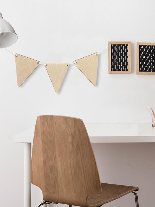 banderines triangulares decoración
