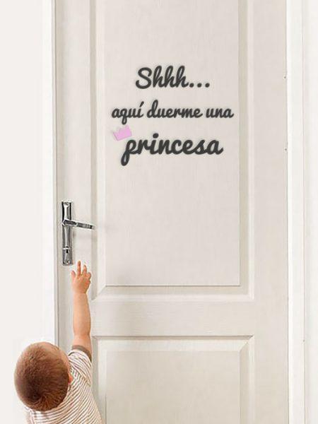 Frase princesa puerta