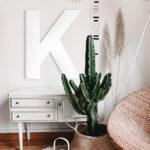 inicial letra madera paris blanco
