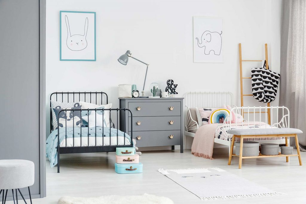 Ideas para decorar dormitorios infantiles compartidos