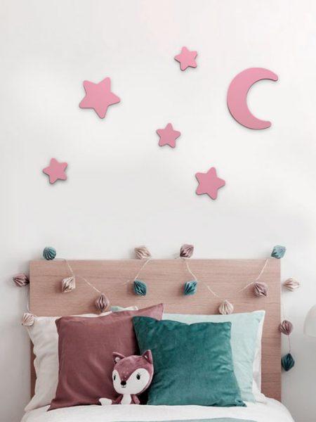 Estrellas de Madera Color